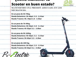 Como mantener tu scooter eléctrico en buen estado?