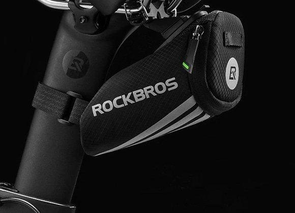 Rock Bros - Bolsa Para Sillín De Bicicleta, Color Negro