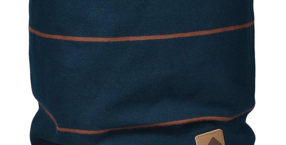 Cache-cou de coton - Rayure marine