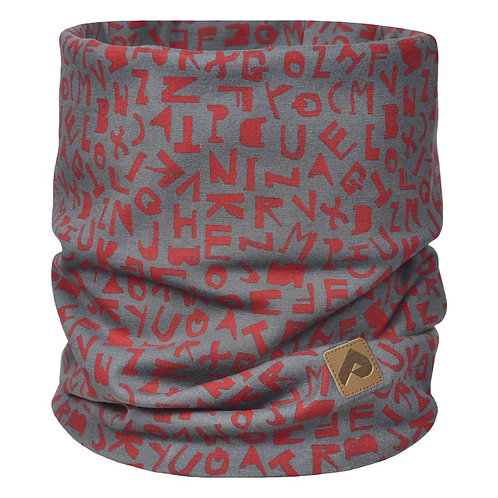 Cache-cou de coton - Alphabet rouge