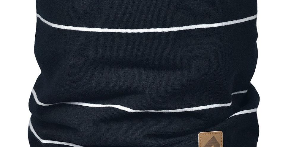 Cache-cou de coton - rayure noire