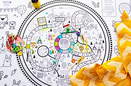Le sentier des animaux - Affiche géante à colorier + Parcours de jeu