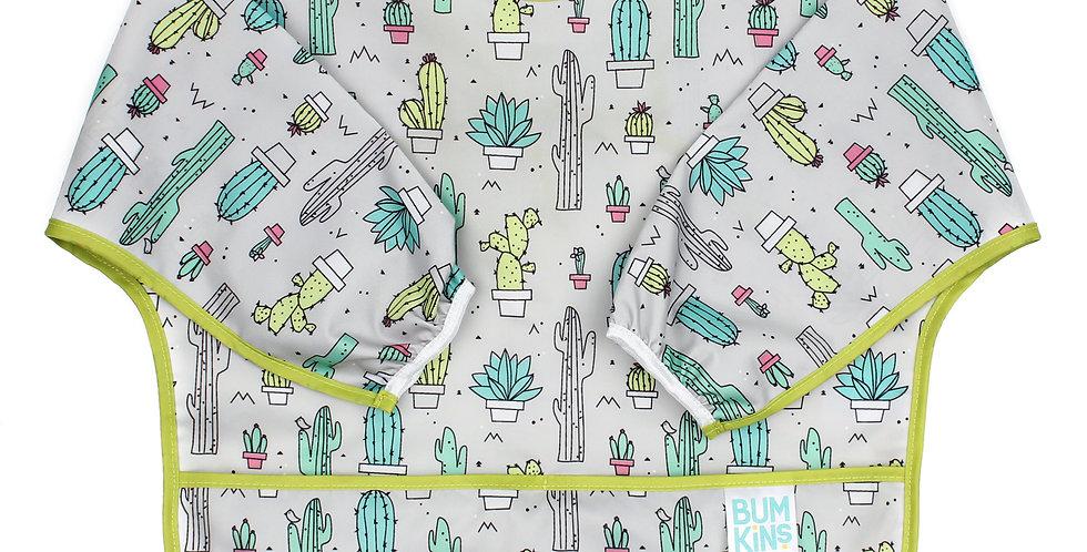 Bavoir à manches - Cactus