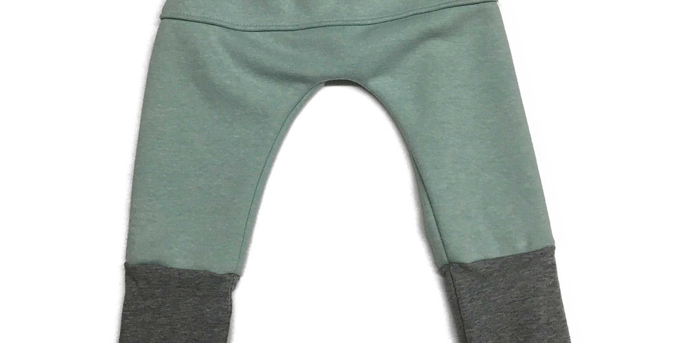 Pantalon évolutif (vert pâle/gris)