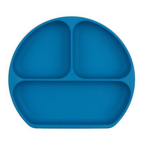Plat en silicone - Bleu profond