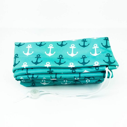 Sac à lessive XLarge - ancre turquoise