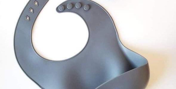 Bavette en silicone Dark grey