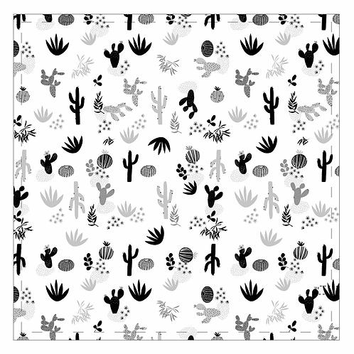 Mousseline Cactus noir Perlimpinpin