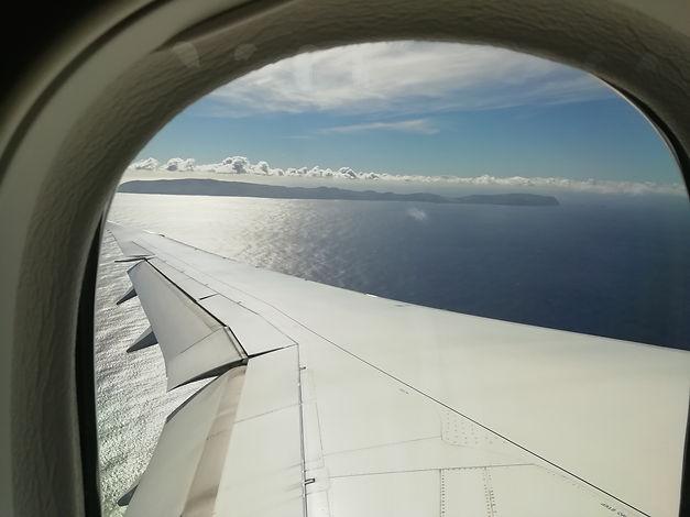 Anflug auf Eastern Island