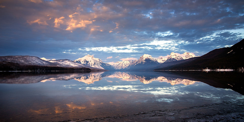 Glacier Winter Reflection