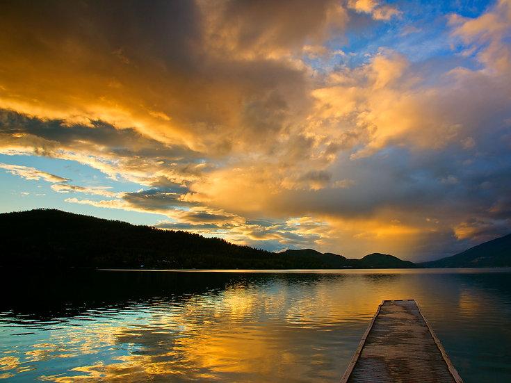 Whitefish Lake Sunset