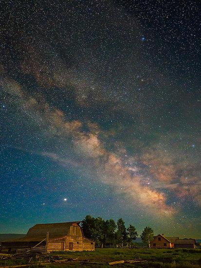 Teton Barn Milky Way