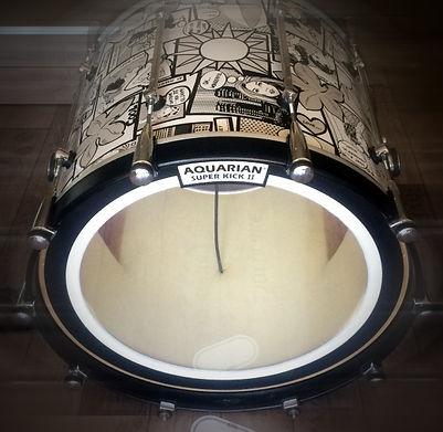 design drum schlagzeugfolie custom drums schlagzeug drumdesign folieren folie customdrum drumset skidrock