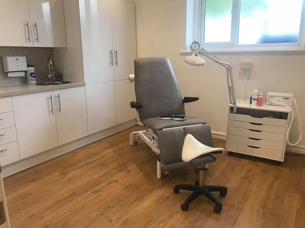 podiatry treatment room