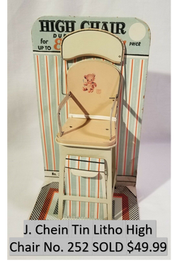 Tin Litho High Chair