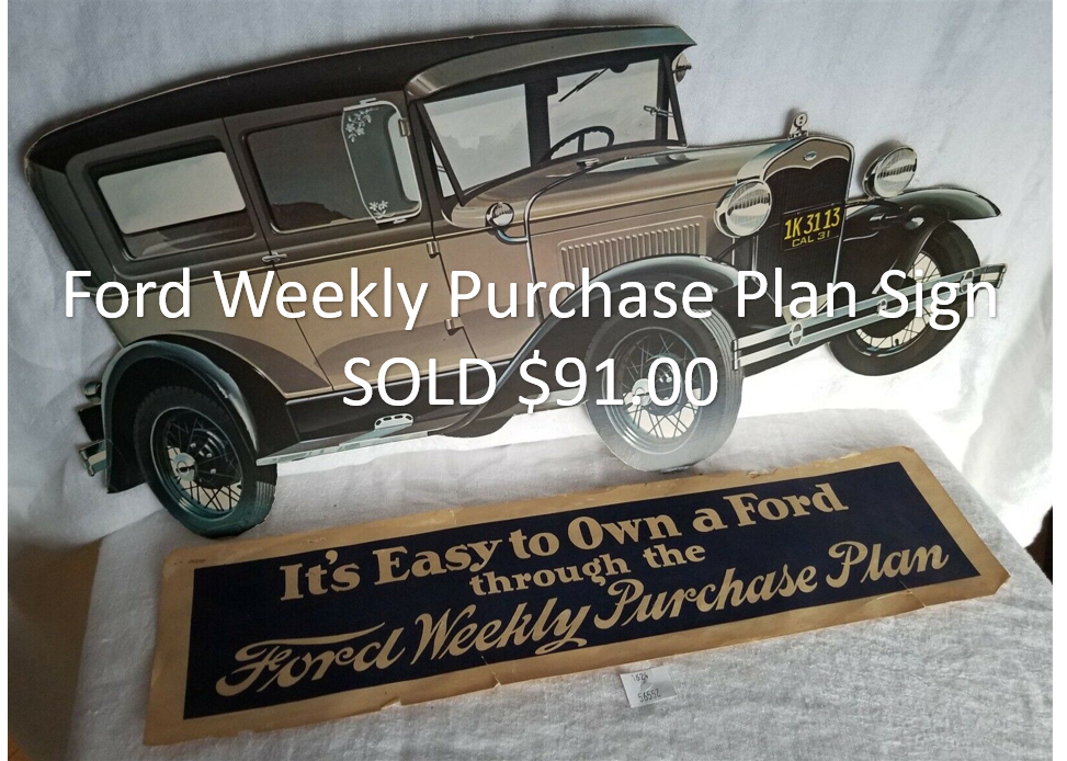 Ford Weekly Purchase Plan Sign
