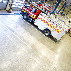 HTC Superfloor in a fire station