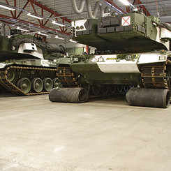 Armoured tanks on an HTC Superfloor™