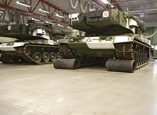 Armoured tanks on an HTC Superfloor™