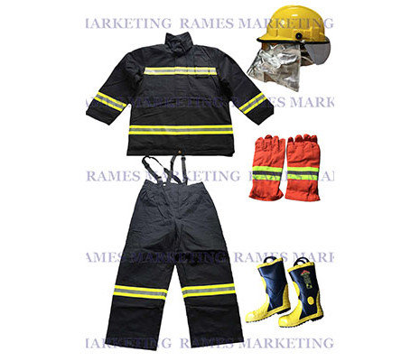 Fireman's Suit and Accessories