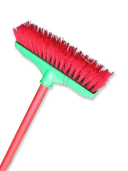 Push Brush Plastic Handle