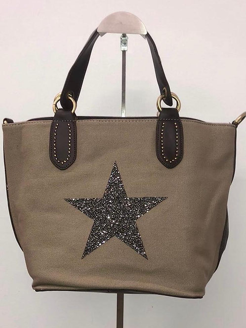 Star Canvas tote sand