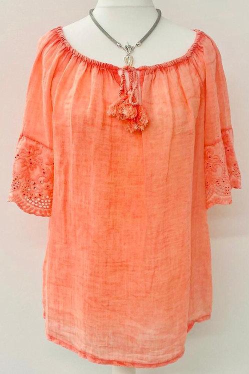 Emme blouse coral