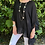 Thumbnail: Oversized linen with ruffle hem Black