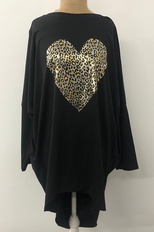 Leopard heart tunic