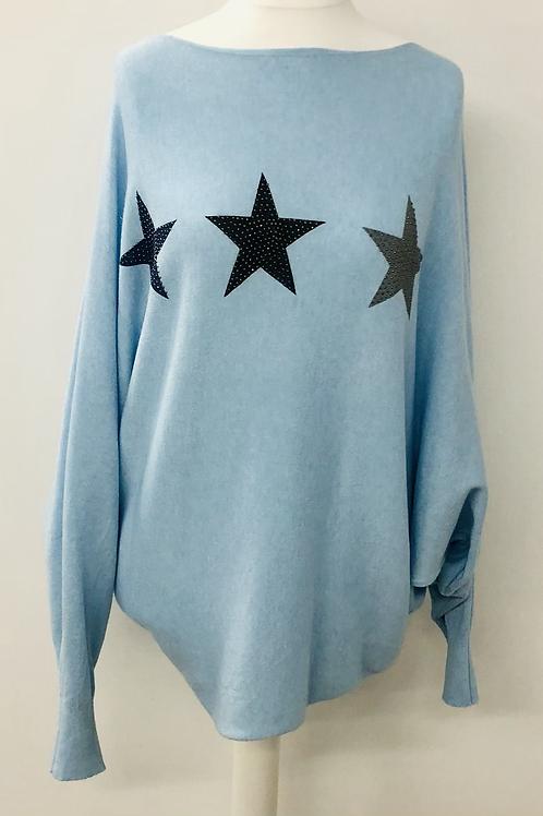 Star jumper baby blue
