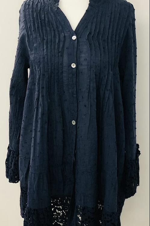 Dotty blouse navy
