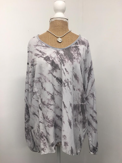 Grey marble blouse