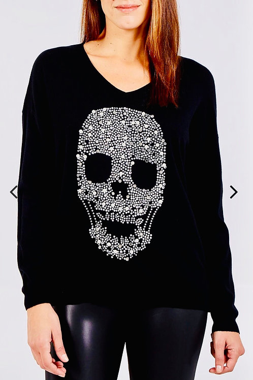 Black Skull soft knit