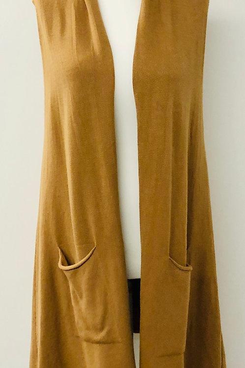 Long line waistcoat tan