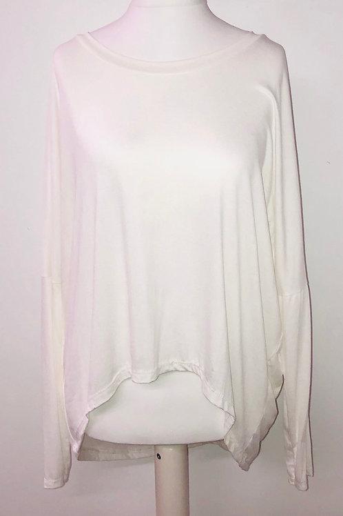 Long sleeve T white