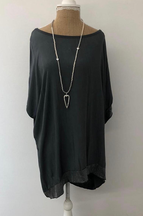 Everly sequin blouse grey