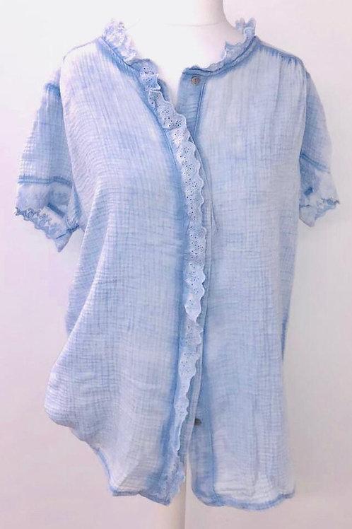 Ditsy blouse sky blue