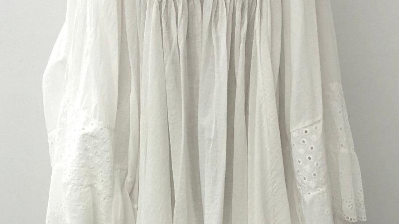White batwing tunic dress