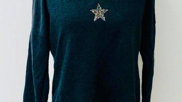 Crystal star sweater slate