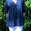 Thumbnail: Navy linen blouse