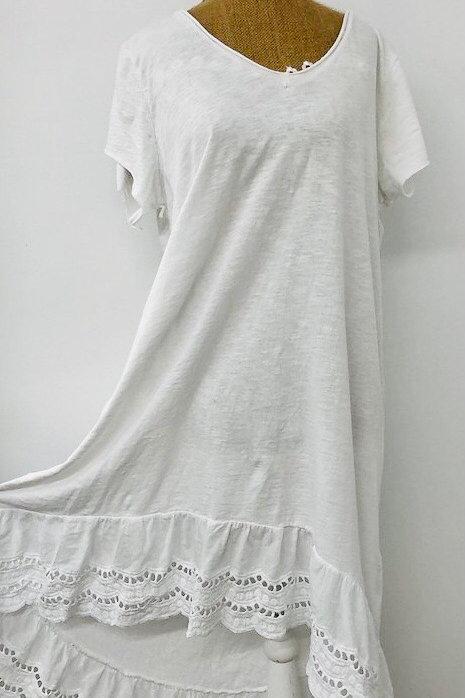 Kayla dress in white