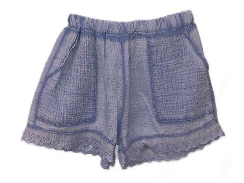 Ditsy shorts sky blue