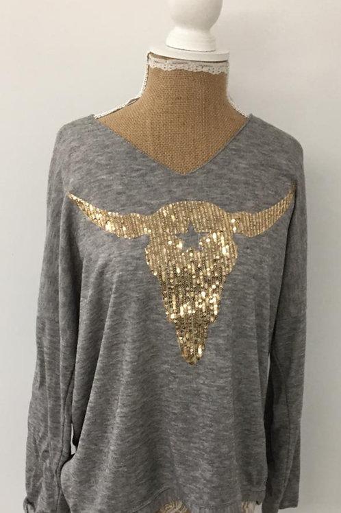 Ranch skull knit grey