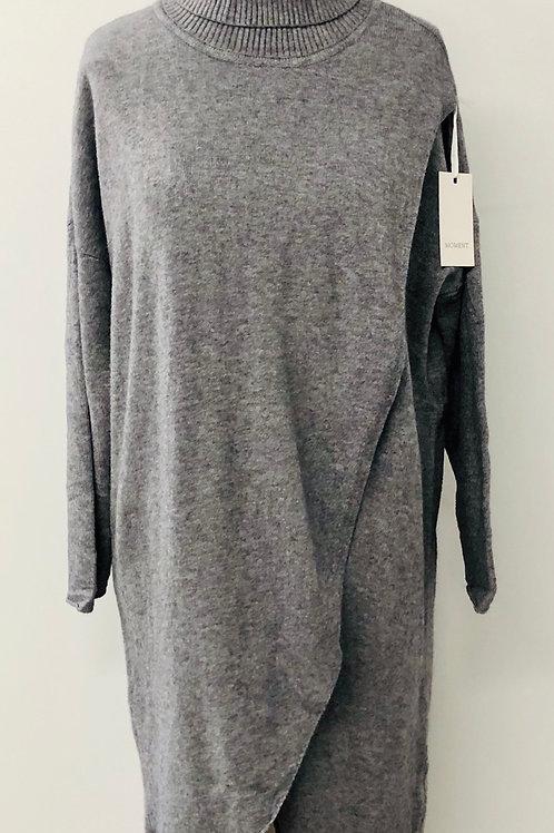 Layered look tunic grey