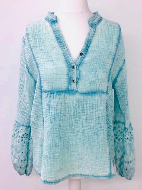 Grace blouse turquoise
