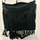 Thumbnail: Suede tassel bag black