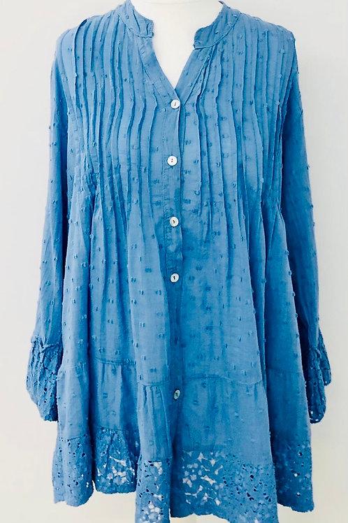 Dotty blouse denim