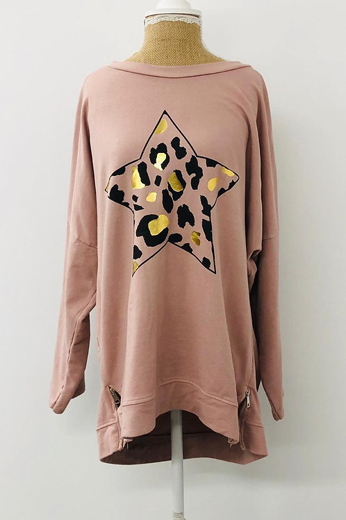 Pink star sweater