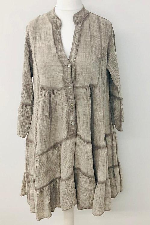 100% cotton dress mocha