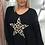Thumbnail: Leopard star knit black